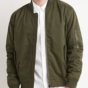 Men's olive green army bomber